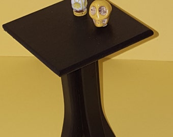 Black 1:6 scale table / playscale side table/ Barbie size table/ miniature side table/ miniature table/ black doll table/ 1/6 doll furniture