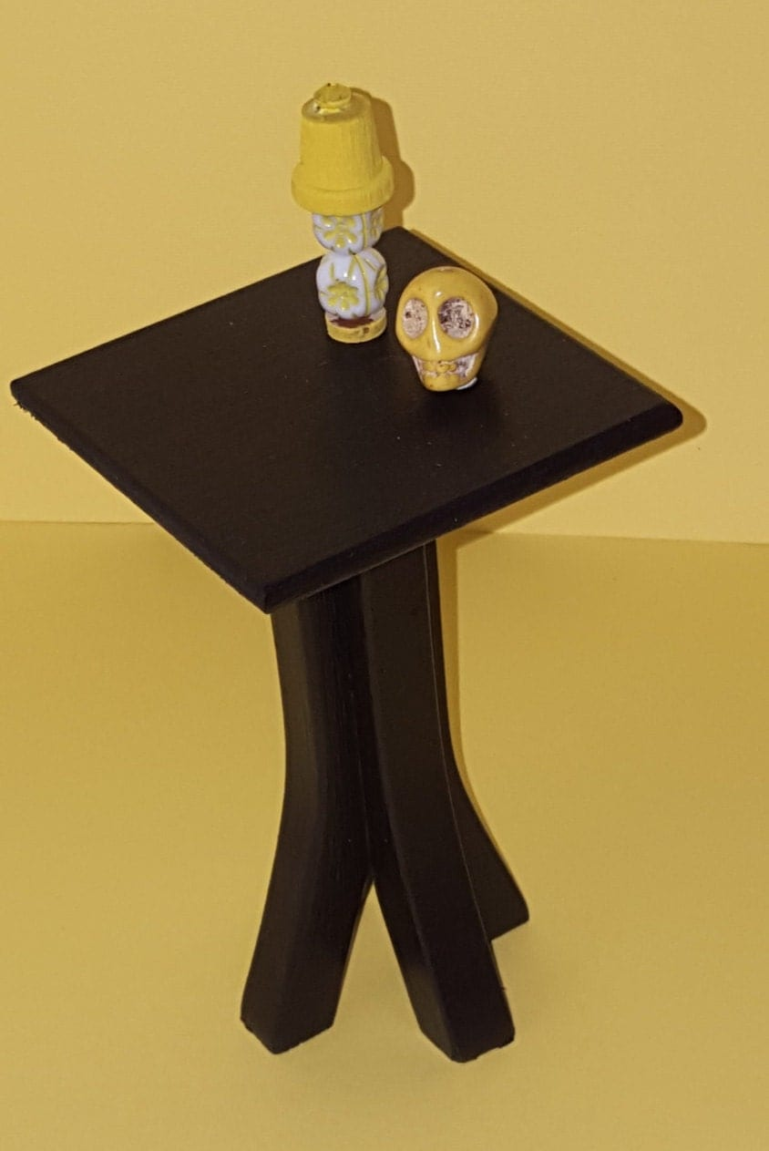 Black 1 6 scale table playscale side table barbie size for 1 6 scale table