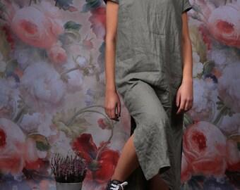 Linen dress. Women dress / Long dress / Linen tunic dress / Sizes  XXS to XXL