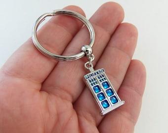 Police box keychain, tardis keychain, dr who keychain, doctor who keychain, police box key chain, tardis key chain, dr who key chain, gifts
