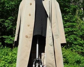 RODEX M Commuter Raincoat 42R gray-brown London overcoat. Raglan Shoulders Coat 42 trench coat khaki grayish overcoat made in England coat