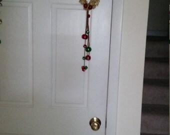 Gold Christmas Doorknob Hanger Doorknob hanger, christmas jingler, christmas doorknob hanger, hanger