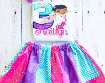 Doc Mcstuffins inspired birthday shirt Birthday Outfit Personalized