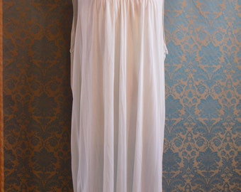 Vintage 1970s Nightgown Shift Archdale Size 46 - 48 Pale Blue