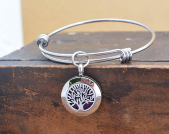 Essential Oil Diffuser Bracelet  - Tree of Life Aromatherapy - Mother's Day Gift for Mom - Oil Diffuser Jewelry - Aromatherapy Jewelry