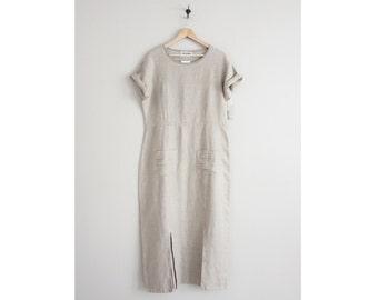 oversized linen dress / baggy dress / minimalist dress