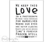 Ed Sheeran // Photograph song lyrics, 8x10 printable artwork // INSTANT DOWNLOAD, Digital File