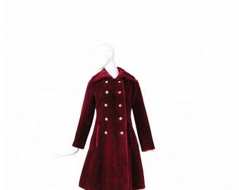 1960s Coat Mod • 60s Faux Fur Coat • Borgaza Princess Coat • Boho • Small S