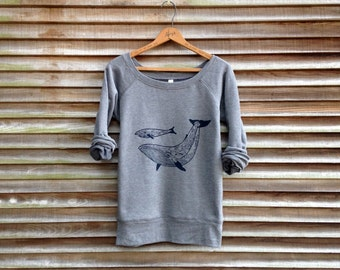 me and mama Whale Sweatshirt, Mother's Day Gift, Yoga Top, Gift for Mom, S-2XL