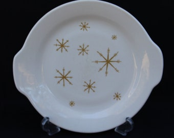 "Royal China ""Star Glow"" Tab-handled Cake Plate"