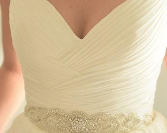 Bridal Sash, Bridal Belt, Bridal Sash Belt, Beaded Bridal Belt, Swarovski Crystal Bridal Belt, Diadema Novia, Bridal sashes, Vintage Bridal