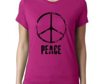 Peace T-Shirt for Ladies - Peace, Printed Tee Shirt