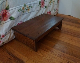 Bedside Step Stool 14  x 24  long 7  or 7.5  8 & View Wooden Step Stools by WindyWoodsWoodcraft on Etsy islam-shia.org