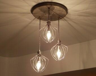 Farmhouse Lighting- Bakery Lighting - Restaurant Lighting -Dining Room Lighting -Industrial Chandelier - Whisk Chandelier- Kitchen Lighting