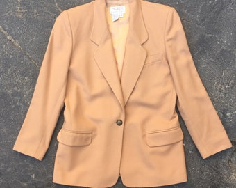 Talbots - Vintage Fully-Lined One-Button Camel Blazer Size 4 Petite