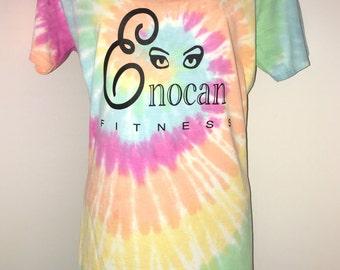 ENOCAN Fitness Women's V-Neck Rainbow Sherbert Tee