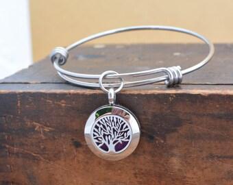 Essential Oil Diffuser Bracelet for Women - Gift for Women - Aromatherapy Bracelet - Essential Oil Diffuser Jewelry - Tree of Life Bracelet
