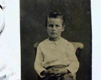 Tintype Photograph-Handsome Boy-1800s