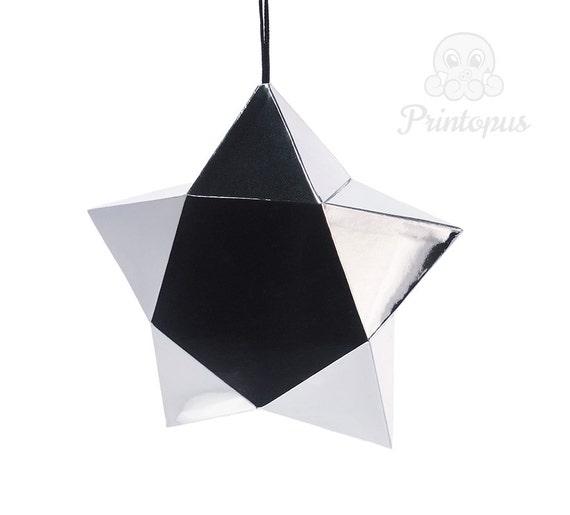 items similar to printable geometric star ornament template diy pdf