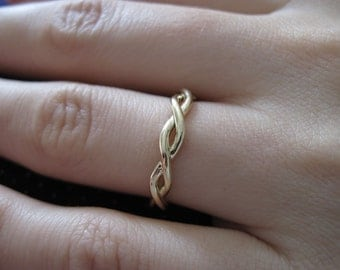 Infinity Wedding Ring, Wedding Infinity Ring, Braided Rope Ring, Wedding Infinity Ring, Infinity Wedding Band, Gold Rope Wedding Ring, Sale
