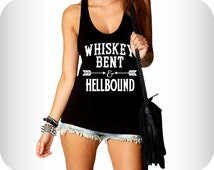 Whiskey Tank Top Flowy Tank For Women - Available in S, M, L, XL.