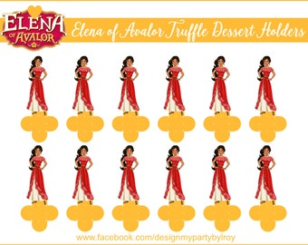 ELENA OF AVALOR, Elena of Avalor Party Favors,Elena of Avalor Party Decor,Elena of Avalor Forminhas, Candy Holders,Forminhas,Party Supplies.