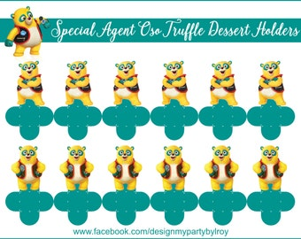 SPECIAL AGENT OSO, Special Agent Oso Party Favors, Special Agent Oso Party Printable, Special Agent Oso Treats,Special Agent Oso Decor,Bear.