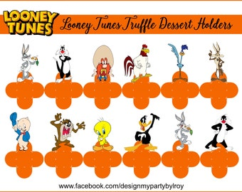LOONEY TUNES,Looney Tunes Characters,Looney Tunes Party Printables,Looney Tunes Party Favors,Looney Tunes Holders,Forminhas,Truffle Holders.