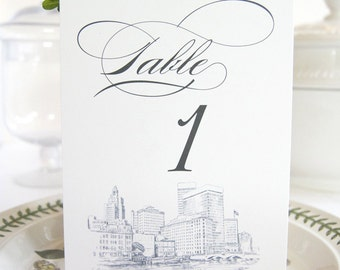 Providence Skyline Table Numbers (1-10)