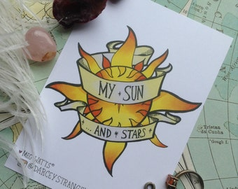 My Sun and Stars GoT Tattoo Print