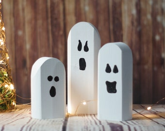 reclaimed wood ghosts rustic halloween decor primitive ghost wooden ghost primitive halloween - Etsy Halloween Decorations