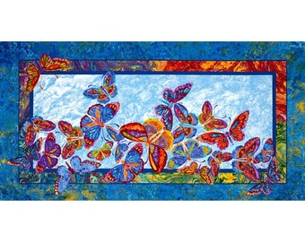 Paintbrush Studios Butterflies are Free Quilters Cotton Fabric Panel