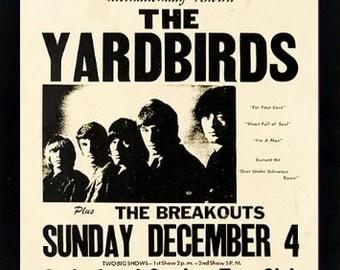 The Yardbirds Band Concert Poster Framed Highest Quality