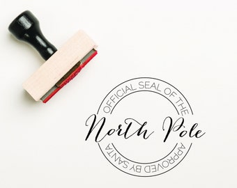 Official Seal of the North Pole Stamp Santa Stamp, Christmas Stamp, Gift Wrap Stamp, North Pole Stamp, Letter to Santa (SXMAS301 - S.4)