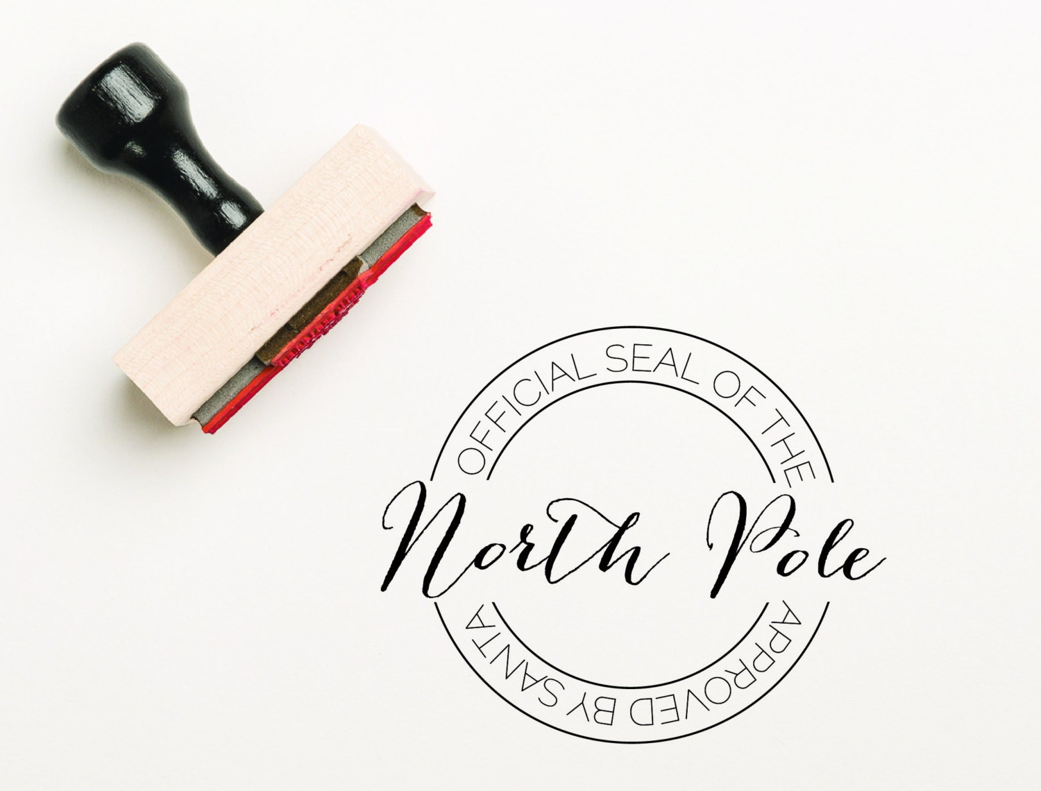 Official Seal Of The North Pole Stamp Santa Stamp