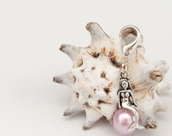 Luxury Pale Purple Removable Mermaid Stitch Marker Progress Keeper for Knitting and Crochet