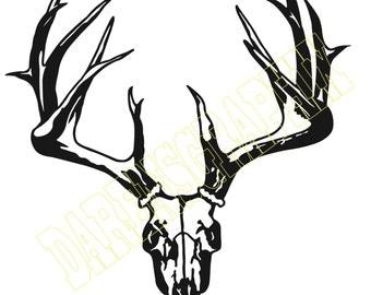 """DXF File """"Deer Skull"""""""