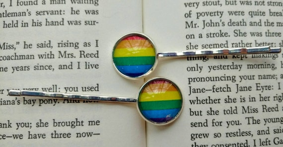 LGBTQ Pride Bobby Pins from TheGreenSorceress