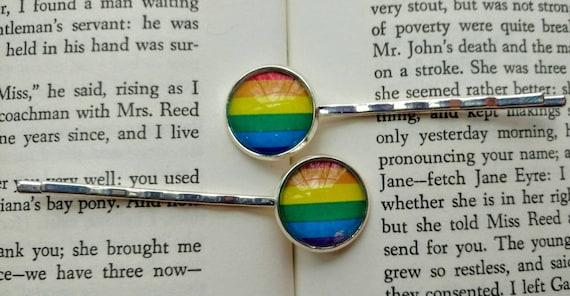 LGBTQ Pride Bobby Pins from TheGreenSorceress