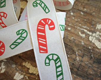 Red and Green Candy Cane Ribbon
