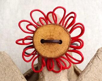 Red flower bracelet - Red flower bracelet