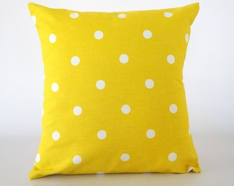 Yellow decorative pillow, yellow pillow, lemon yellow pillow, yellow pillow cover, pillow cover, throw pillows, cushion, decorative pillows