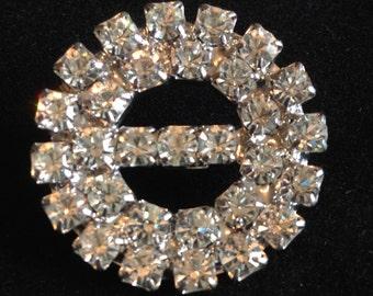 Super Sparkly Diamante Vintage Brooch.