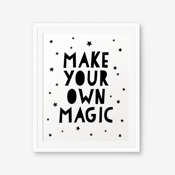 Make Your Own Wall Decor For Nursery : Make your own magic nursery wall art children decor custom