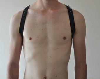 Black Leather sling Harness