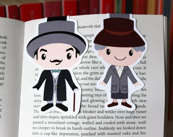 Agatha Christie Magnetic Bookmarks   Hercule Poirot and Miss Marple