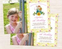 Frozen Fever Custom Photo Invitation   Frozen Fever Inspired Photo Invitation Printable   Girl Birthday   Gracie Lee Design