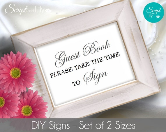 items similar to diy printable guest book sign template