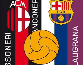 Football AC Milan Juventus Barcelona Art Print Poster