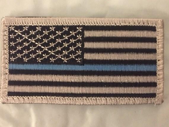 Thin blue line patch velcro